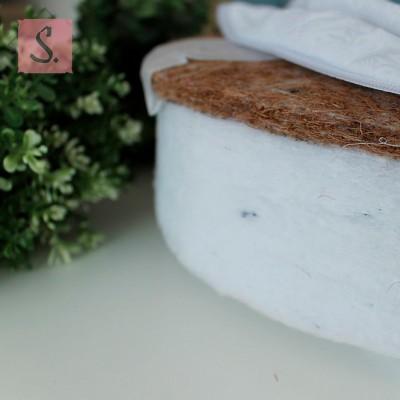 Матрас для круглой кроватки (Холлофайбер + Кокос)