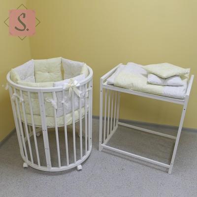 Детская кровать трансформер 7 в 1 (береза)