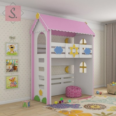 Детская кровать чердак Ромашка