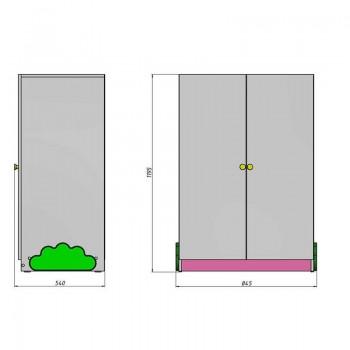 Кровать чердак Ромашка + шкаф + ящик игрушек