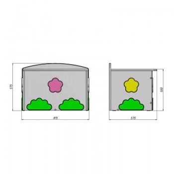 Кровать чердак Ромашка + ящик игрушек