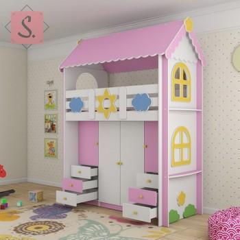 Кровать Ромашка гардероб