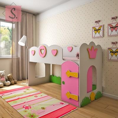 Детская кровать чердак Принцесса