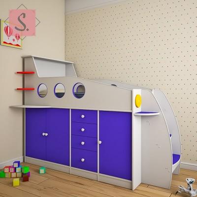 Детская кровать чердак Ракета