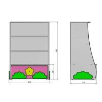 Кровать чердак Коттедж + стеллаж + комод
