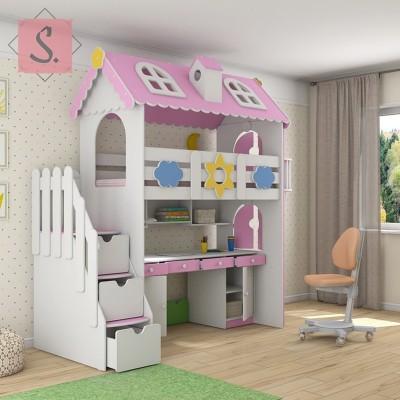 Детская кровать Коттедж кабинет