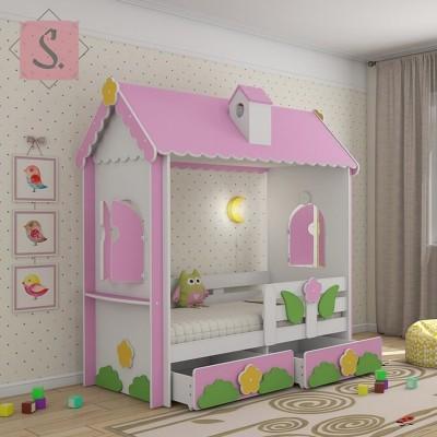 Детская кровать домик Люкс