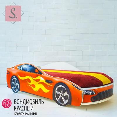 Детская кроватка Машинка - Бондомобиль красный