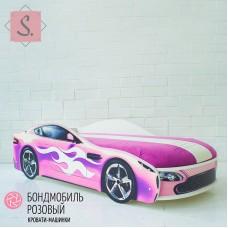 Кроватка Машинка - Бондомобиль розовый