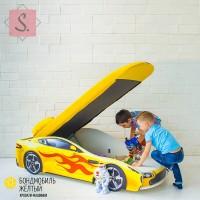 Кроватка Машинка - Бондомобиль желтый