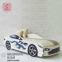 Кроватка Машинка - Бондомобиль белый