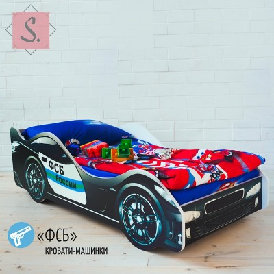 Детская кроватка Машинка - ФСБ