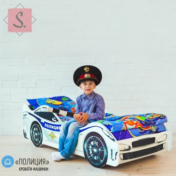 Кроватка Машинка - Полиция
