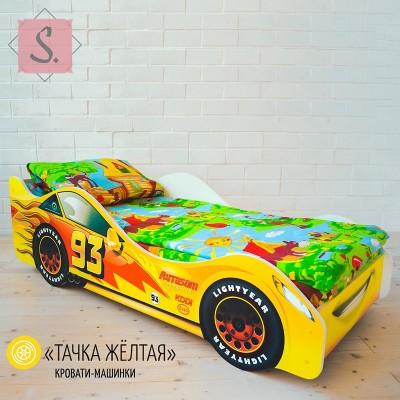 Детская кроватка Машинка - Тачка желтая
