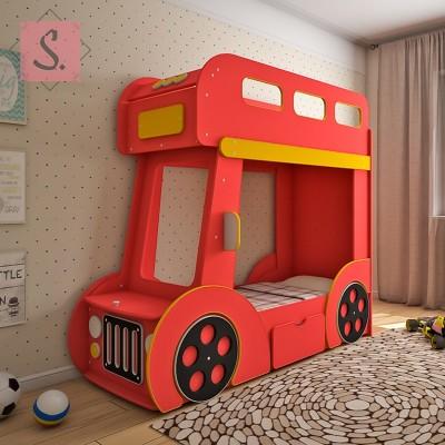 Детская кровать машинка Автобус