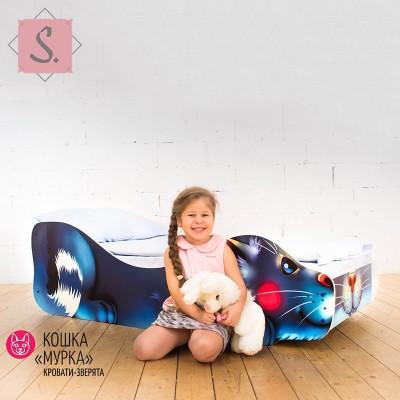 Детская кроватка Кошка - Мурка