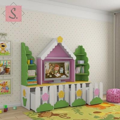Детская стенка Ромашка для ТВ